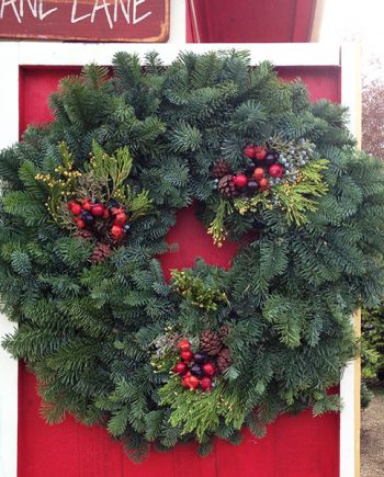 "24"" Round Noble Fir Wreath"